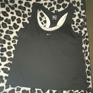 Nike black and white racerback tank size xl.